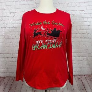Plus Size Christmas Long Sleeve T-Shirt